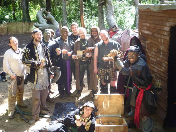corsairs celebrate gold and gem haul